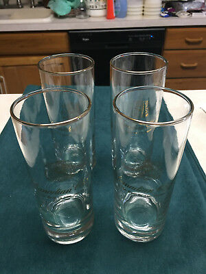 "Set Four (4) Vintage Canadian Club Whisky ""The Best In The House"" Clear Glasses"