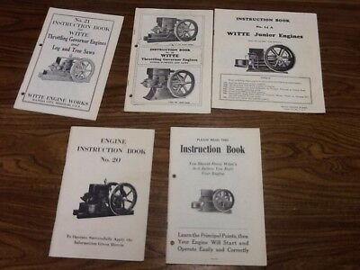 Witte Engine Books lot of 5