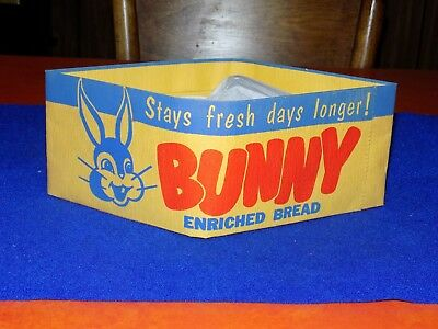 vintage,Bunny Bread 1950s, bakers paper hat, sign