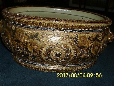 Large 1 Inch Thick Heavy Handpainted Decorative Bowl Made In China