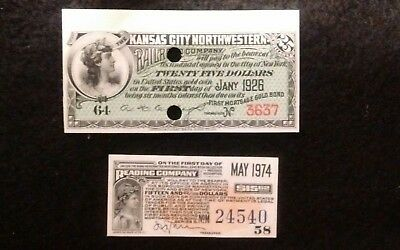 2 Vintage Coupons one Railroad other ?
