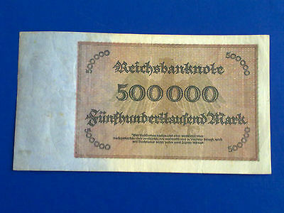 Germany - 500 000 Mark 1923 -  Very  Fine Plus