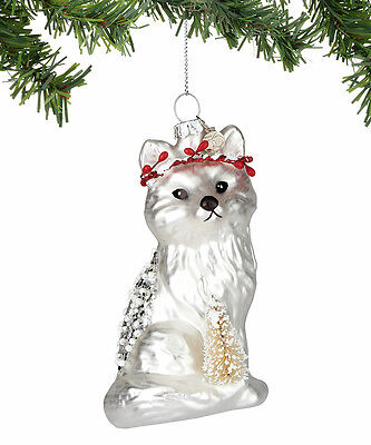 4054363 Fox With Tree Christmas Dept 56 Holiday Ornament Animal Winter