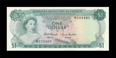 1968 British Colony Bahamas Qeii $1 (( Gem Unc ))
