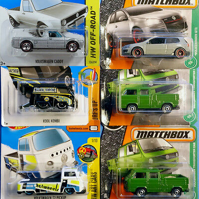 Hot Wheels Matchbox VW Golf Caddy metallic GTI T1 Kool Kombi T2 T3 Transporter