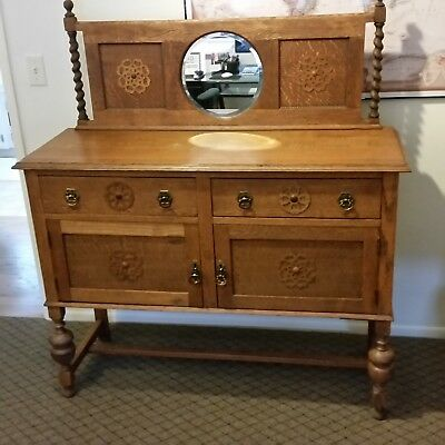 Antique Sideboard-Oak