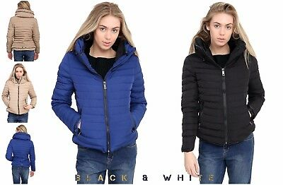 Ladies Zara Puffer Bubble Quilted Hooded Fur Collar Warm Thick Women Jacket Coat