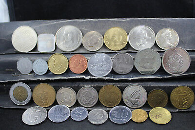 Central & South Americas 30 assorted coins   lot H 299