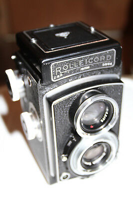 Vintage Rollei Rolleicord III TLR Camera with Xenar 75mm f3.5 Lens K3B