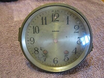 "Antique Ansonia 6 1/2"" Mantel Clock Bezel With Convex Beveled Edge Glass, Parts"