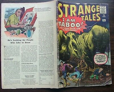 Strange Tales No 75 114 117 and 136  Vista Pub. 1960-1965 Marvel Comics