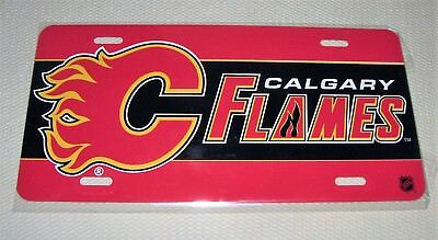 Calgary Flames - NHL Hockey Metal Glossy Commemorative License Plate N