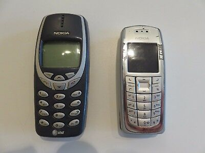 Vintage Cell Phones Nokia 3120 and 3360 USED