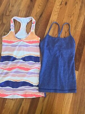Lot Of 2 Lululemon Tank Tops -Size 4