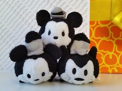 New Japan Disney Store 4th Anniversary Steamboat Willie Mickey Minnie Pete Tsum