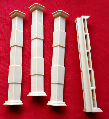 Playmobil 5300 5305 7411 Victorian Mansion Wall Connector Corner Piece Lot of 4