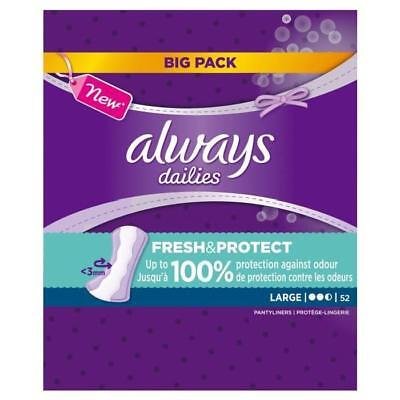 ALWAYS Lot de 52 Proteges slips - Large