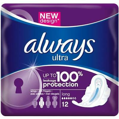 ALWAYS 12 Serviettes hygiéniques Ultra Long Plus