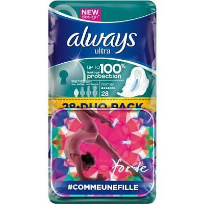 ALWAYS Ultra Normal Plus 28 Serviettes Hygiéniques