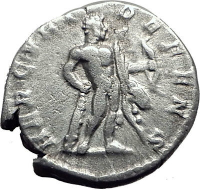 SEPTIMIUS SEVERUS 193AD Authentic Ancient Silver Roman Coin  Hercules  i65081