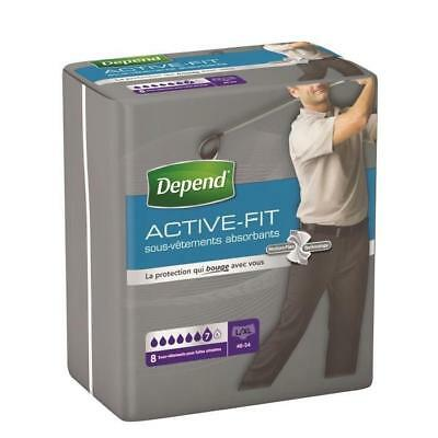 DEPEND Sous-vetements Active-Fit - Homme - Taille L/XL - 8 x 4