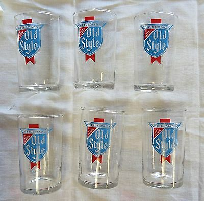 """6 Heilemans Old Style Beer Glass - known as a shorty - 4"""""""