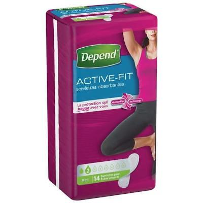 DEPEND Serviette hygiénique Active Fit - Femme - Mini 14 x 6