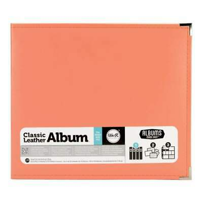 NEW We R Classic Leather D-Ring Album 12X12 Coral