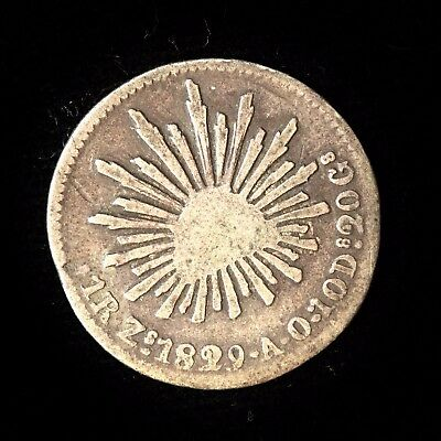 * Mexico Silver Real 1829 Zs/AO Toned Fine
