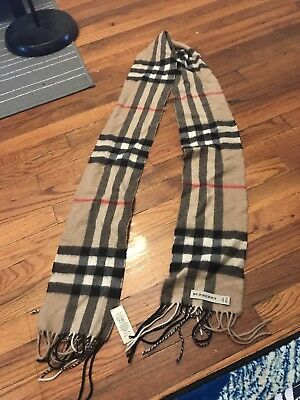Authentic Burberry Scarf Cashmere Classic Check