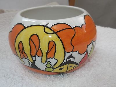 Lorna Bailey Sugar / Nibbles Bowl  In Parkside Pattern By Old Ellgreabe Pottery