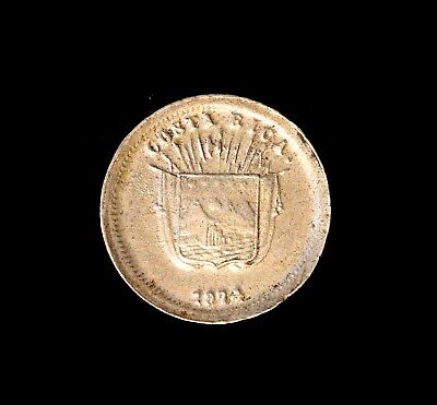 * Costa Rica Centavo 1874 EF, One Year Type!