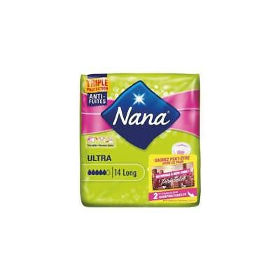 NANA Lot de 14 Serviettes hygiéniques Ultra long