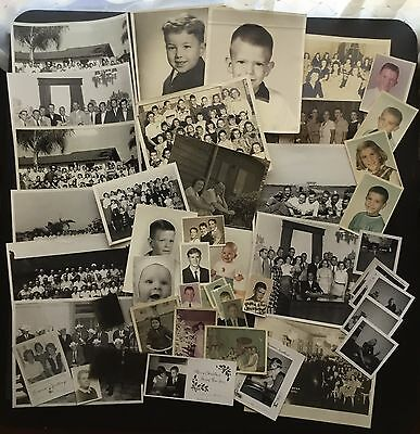 LOT of 48 Vintage Photographs 1940's to 1960's Family Group Black & White Color