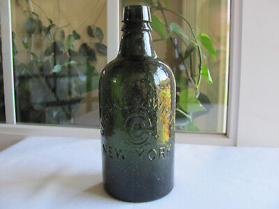 Clarke & White New York Mineral Water Bottle Super Bubbley!! And Crude W/damage