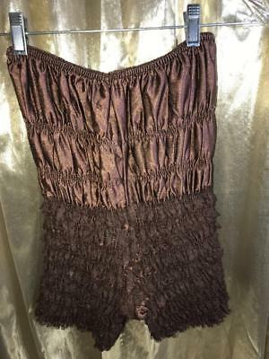 Sam's Petti Pants Ruffles, Brown Size L # 111104