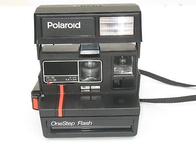 Polaroid One Step FLASH with  Close Up lens Instant  Film Camera - working