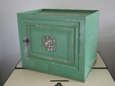 Antique Home Comfort Bread and Cake Cabinet Galvanized Metal 1919 ...