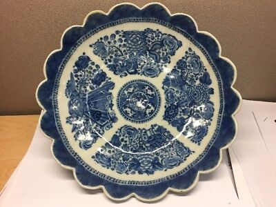 """Fine Beautiful 10"""" Antique Chinese Blue and white porcelain Plate Qing Dynasty"""