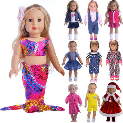 US STOCK Doll Clothes Underwear Pants Shoes Dress Accessories for 18in. Doll