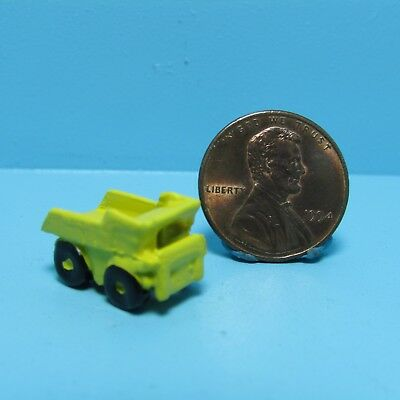 Dollhouse Miniature Toy Yellow Dump Truck ~ MUL1085