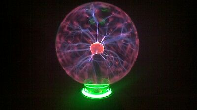 7.45 Inch Radius Plasma Light Sphere Ball with Green Neon Light Base