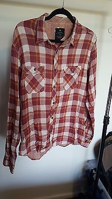 Mens Cotton On Checked Shirt, Size L (Like New)