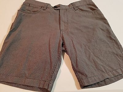 Mens Effekt Checked Shorts, Size 34 (Like New)