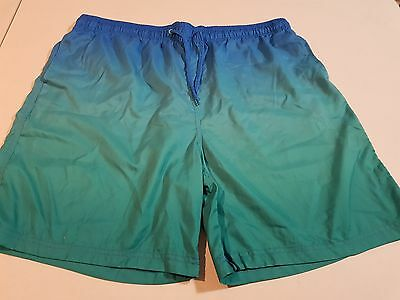 Mens Green Board Shorts, Size XXL (Like New)