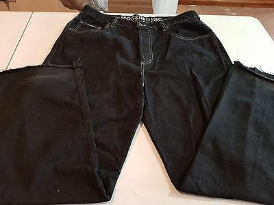 Mens Mossimo Black Denim Jeans, Size 36 (Like New)