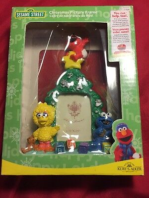 Sesame Street Christmas Picture Frame New Elmo Big Bird Cookie Monster