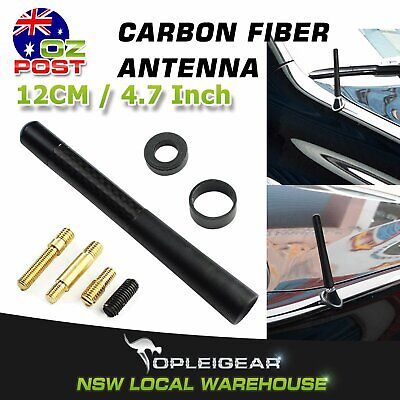 12cm Carbon Fiber Aerial Car Roof AM FM Radio Signal Antenna Booster Mast Stubby