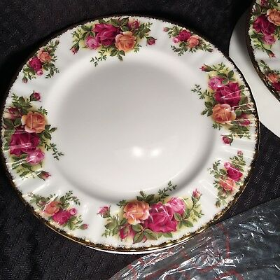 (4) Royal Albert Old Country Roses Salad Plates - Made in England - Perfect