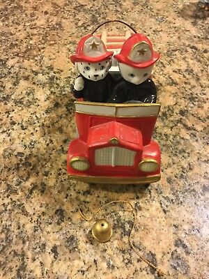 Kitty Cucumber Fire Truck Schmid Vintage